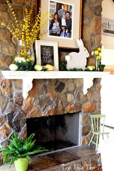 spring mantel by @Top This Top That