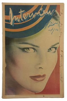 ANDY WARHOL Pittsburgh, 1928 – New York, 1987  Interview - Magazine, November 1978 Colored offset on paper 43 x 28,7 cm Signature and dedication on cover: Andy Warhol The image of Barry McKinley portrays Carole Bouquet Designed by Richard Bernstein, photo by Barry McKinley Publisher Interview Enterprises, Inc., New York  Interview magazine deals with news, show business and star system. Founded by Andy Warhol in 1969 to promote underground cinema and the various Factory activities. On the…