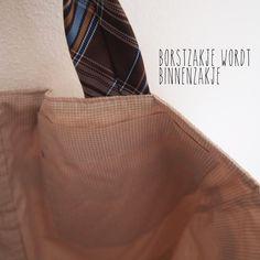 stropdasTAS HERENkleren hergebruikt: 1 stropdas + 3 overhemden = 1 tas