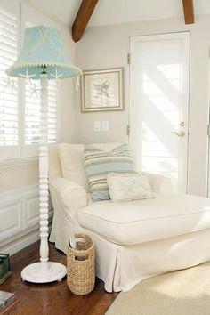 Mooie frisse kleuren bij elkaar. Wit en turquoise! Geeft een strand/beach gevoel