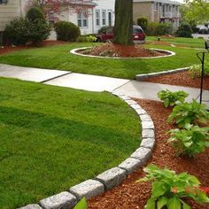 Done Right Landscape 781-858-8000 Sod job, Cobblestone and Low Maitenance plantings by Done | Yelp