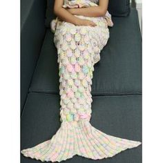 SHARE & Get it FREE   Knitted Openwork Fish Scale Design Mermaid BlanketFor Fashion Lovers only:80,000+ Items • FREE SHIPPING Join Twinkledeals: Get YOUR $50 NOW!