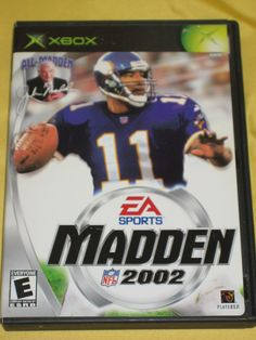 Madden NFL 2002 Xbox Original football video game-COMPLETE book & generic case | eBay