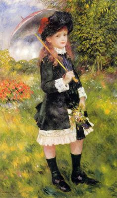 Girl with a Parasol (also known as Aline Nunes) Pierre Auguste Renoir - 1883