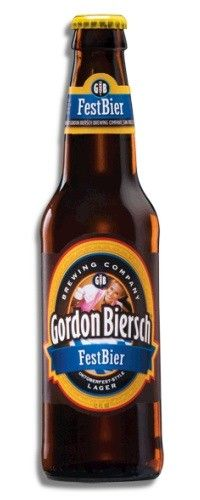 Cerveja Gordon Biersch FestBier, estilo Oktoberfest/Marzen, produzida por Gordon Biersch Brewing Company, Estados Unidos. 5.6% ABV de álcool.