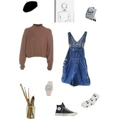 a r t by monophysitism on Polyvore featuring polyvore, fashion, style, Acne Studios, Monki, Converse, Betmar and Sony