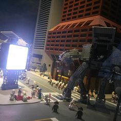 AT-AT walkers in the financial district #Boston #LEGO #StarWars