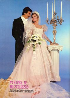 """Nikki and Victor's wedding from """"The Young and the Restless""""."""
