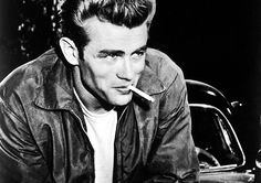 This is a picture of James Dean. James Dean was an American actor. He popularized the bad boy jeans and T-shirt look. Elvis Presley, Classic Hollywood, Old Hollywood, Hollywood Icons, Hollywood Glamour, Hollywood Stars, Bad Boys, James Dean Poster, James Dean Style