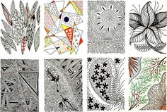 been wanting to try zentangles. a good idea for atcs