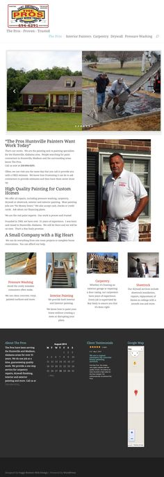 John Langlois of Foggy Bottom Web Designs created this website for Huntsville Painter using the Divi Theme for WordPress http://www.thepros-painting.com