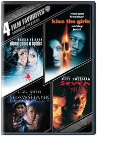 This set of four movies starring Morgan Freeman includes David Fincher's serial-killer classic SEVEN, ALONG CAME A SPIDER, KISS THE GIRLS, and THE SHAWSHANK REDEMPTION.