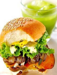 「パンプキン&マッシュルームバーガー」のレシピ