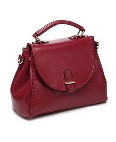 Simple Red Shoulder Bag
