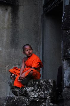 Child Monk - Angkor Wat, Cambodia