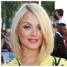 blunt platinum blonde bob haircuts for round faces