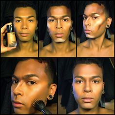 male makeup contour and highlight - Google Search