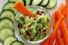 Guacamole with Pomegranate Recipe - sounds unusual but really good