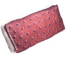 Girlzlyfe.Com - Chocolate Ice Cream Sandwich Pillow, $26.99