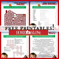 Free Printable Home Alone Activity Sheets | #HomeAloneInsiders ad
