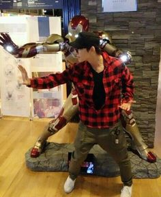 Donghae with Iron Man