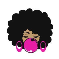 Black Love Art, Black Girl Art, Art Girl, Black Art Painting, Black Artwork, African American Art, African Art, Afro Hair Drawing, Black Woman Silhouette
