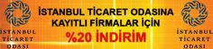 İstanbul Ticaret Odasına kayırlı firmalara özel %20'ye varan indirimler için www.eimza.gen.tr sitesini takip ediniz