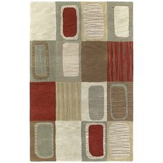 Kaleen Rugs Lawrence Multicolored Dimensions Hand-tufted Wool Rug (9'6 x 13') (9'6 x 13'0), Beige, Size 10' x 13'