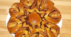 Cozonac floare cu Nutella Nutella, Deserts, Muffin, Cooking Recipes, Bread, Vegetables, Breakfast, Food, Morning Coffee