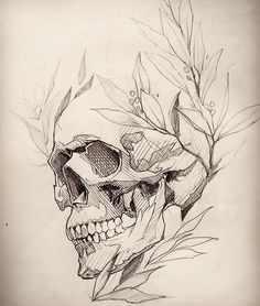 Skull tattoo design, skull design, tattoo sketches, drawing sketches, t Skull Tattoo Design, Skull Tattoos, Body Art Tattoos, Tattoo Designs, Skull Design, Skull Butterfly Tattoo, Sleeve Tattoos, Ear Tattoos, Wing Tattoos