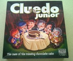 Junior Cluedo - The Case of the Missing Chocolate Cake by Parker. Childrens Game