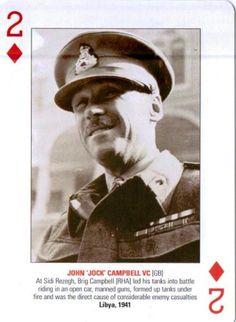 Playing card depicting Jock Campbell VC