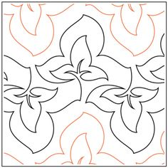 Forage Pantograph Pantograph © 2017 Hermione Agee Quilting Templates, Machine Quilting Designs, Quilt Patterns, Stitch Patterns, Longarm Quilting, Free Motion Quilting, Quilt Stitching, Embroidery, Quilts