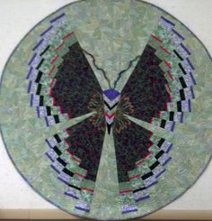 Butterfly Quilt - fantastic pattern from the book Quilts Without Corners by Cheryl Phillips
