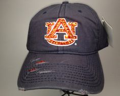 Swarovski crystal bling Auburn University adjustable hat