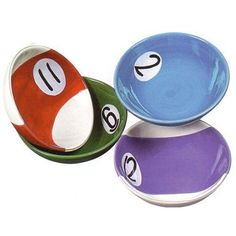 """Rack-Em-Up"" Dip Bowls (Set Of 4) by Clay Art"