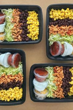 25 Healthy Meal-Prep Lunches That Go Way Beyond Boring Sandwiches food clean eating food healthy food ideas food photography food plan food recipes Lunch Meal Prep, Meal Prep Bowls, Weekly Meal Prep, Burrito Bowl Meal Prep, Week Lunch Prep, Meal Prep Dinner Ideas, Healthy Snacks, Healthy Recipes, Healthy Cold Lunches