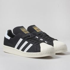 Adidas Originals Superstar 80s Primeknit Shoes - Black/White
