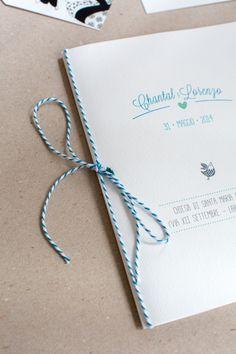 Wedding Order Form Blu Marine _ Partecipazione Libretto Matrimonio Turchese