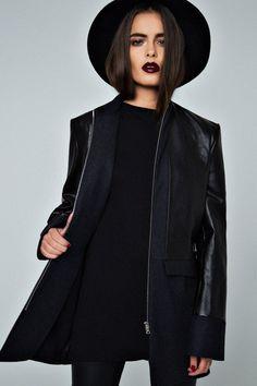 All black grunge outfit Style Noir, Mode Style, Style Me, Black Style, Look Fashion, Womens Fashion, Fashion Edgy, Fashion Killa, Fashion News