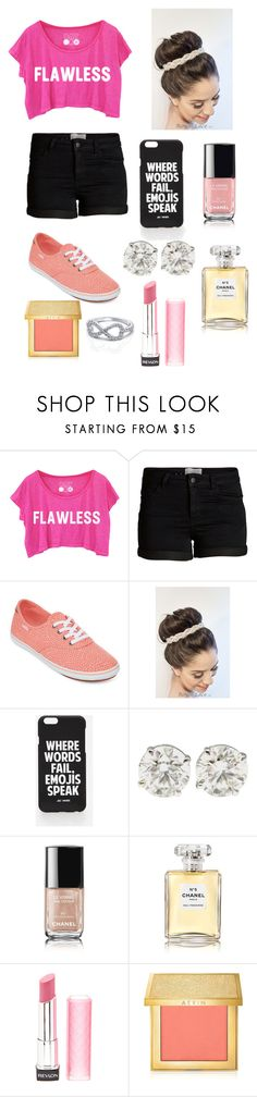 """Amaze"" by annashishlo ❤ liked on Polyvore featuring Pieces, Vans, Jac Vanek, Chanel, Revlon and AERIN"