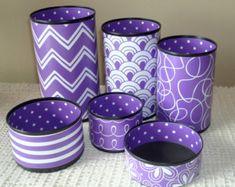 Purple Desk Accessories, MORE COLORS AVAILABLE, Desk Organizer, Cute Desk Accessories, Makeup Organizer, Office Decor, Dorm Decor - 977