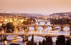 Charles Bridge at Sunset. Prague, Czech Republic. #moremagazine