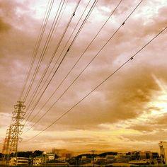 #雲 #鉄塔 #夕陽 #夕陽 #japan #日本 #風景写真 #大倉山