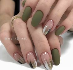 Green Nail Designs, Fall Nail Art Designs, Beautiful Nail Designs, Maroon Nail Designs, Cute Acrylic Nail Designs, Elegant Nail Designs, Green Nail Art, Green Nails, Pink Nails