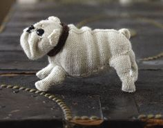 """Knit a English Bulldog ~ Free Pattern ( 3 pages, small numbers below picture """" Knit your Own Dog)"""