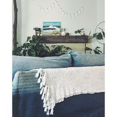 living room | denim sofa | nature indoors | ©little_bits_of_glee