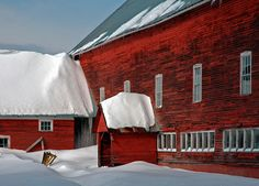 "Photograph by Rich Despins received Honorable Mention for ""Winter Barn"""