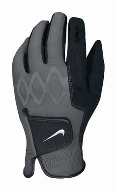Nike Men's All Weather II Regular Golf Gloves, Black, Medium by Nike. $17.95. Get your game on with the Nike All Weather golf gloves. Synthetic microfiber in the palm provides an exceptional grip in wet conditions. Body-led silicone over-mold on back of knuckles for a superior fit, flexibility and range of motion. Micro-flex gussets in thumb and index finger for excellent range of motion and breathability. Angled tab with nub traction design for improved grip in we...