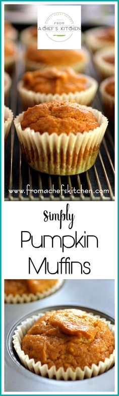 Simply Pumpkin Muffins are deliciously light, low in fat, moist and easy to pull together with all the fall pumpkin flavor you love!